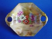 Royal Winton Hand Painted 'Anemone' Dish signed Z. Kas c1945